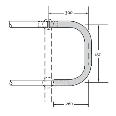 Horizontal Closure Bend 32NB Medium Mild Steel