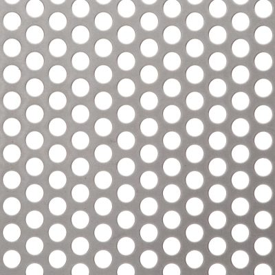 R09540 Perforated Metal Sheet: 9.5mm Round, 40% Open Area